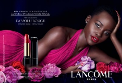 makeup-for-deep-black-skin-lupita-nyong'o-lancome-campaign-red-lipstick